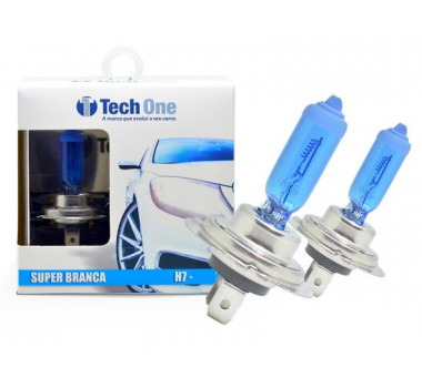Lampada Super Branca H7 55/60w 8500k - Techone