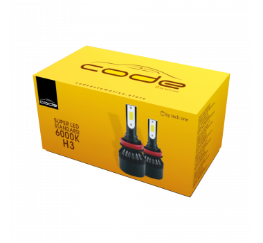 Lâmpada Super Led H3 CODE by Techone  - 6000k 3900 lumens
