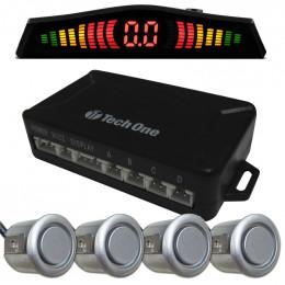Sensor de Estacionamento Cinza 4 Pontos Standard - Techone